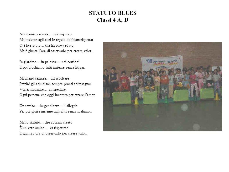 STATUTO BLUES Classi 4 A, D