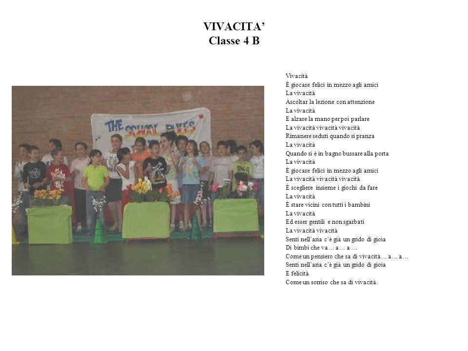 VIVACITA' Classe 4 B Vivacità È giocare felici in mezzo agli amici
