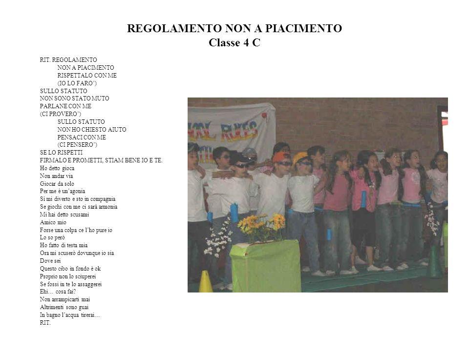 REGOLAMENTO NON A PIACIMENTO Classe 4 C