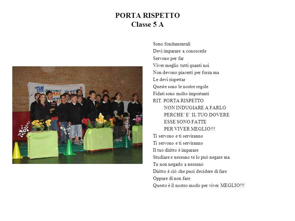 PORTA RISPETTO Classe 5 A