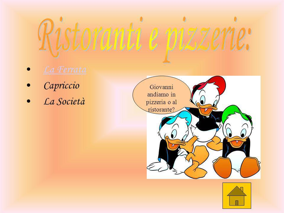 Ristoranti e pizzerie: