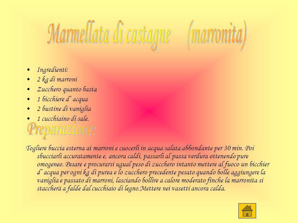 Marmellata di castagne (marronita)