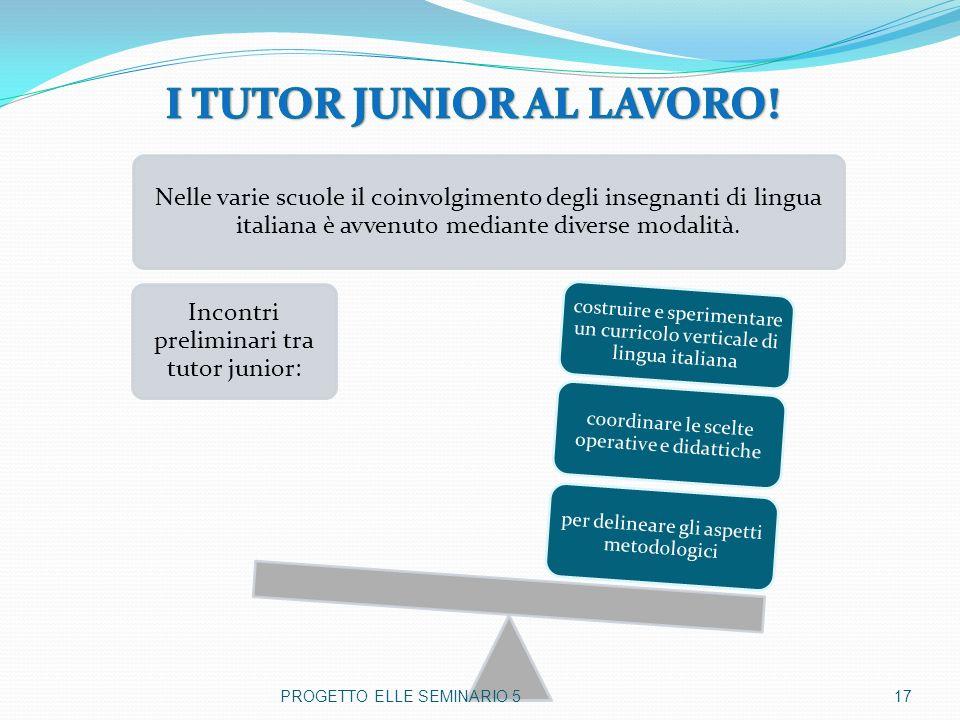I TUTOR JUNIOR AL LAVORO!