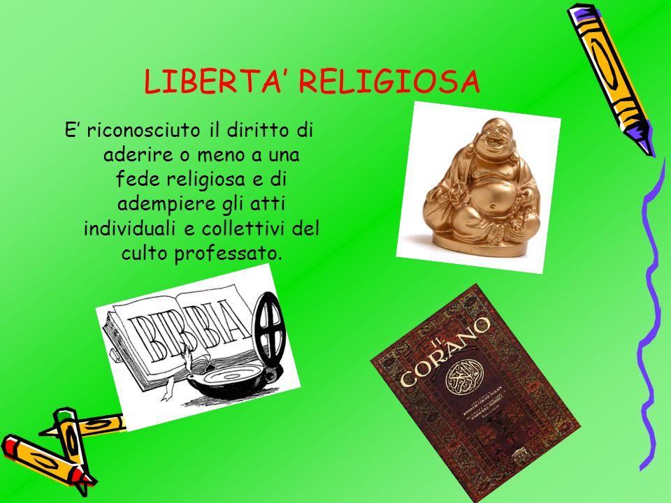 LIBERTA' RELIGIOSA