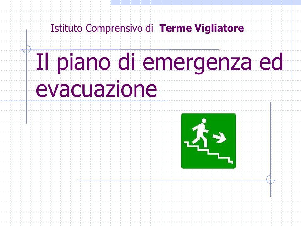 Il piano di emergenza ed evacuazione