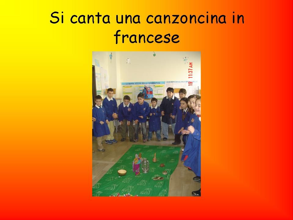 Si canta una canzoncina in francese