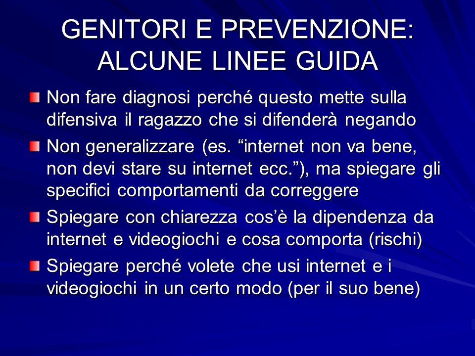 GENITORI E PREVENZIONE: ALCUNE LINEE GUIDA