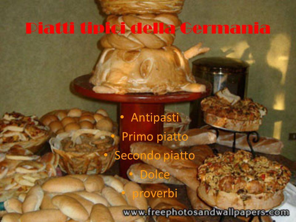 Piatti tipici della Germania