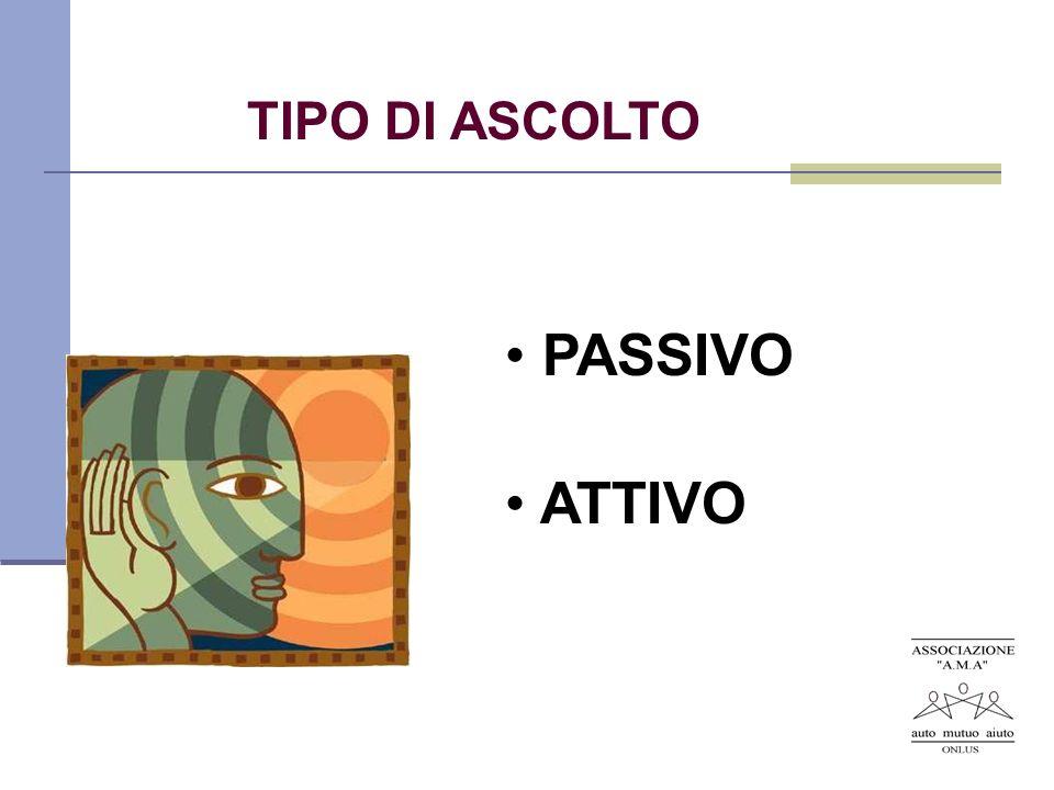 TIPO DI ASCOLTO PASSIVO ATTIVO
