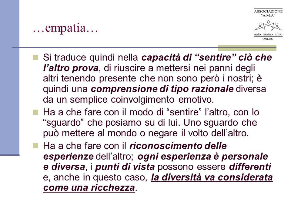 …empatia…