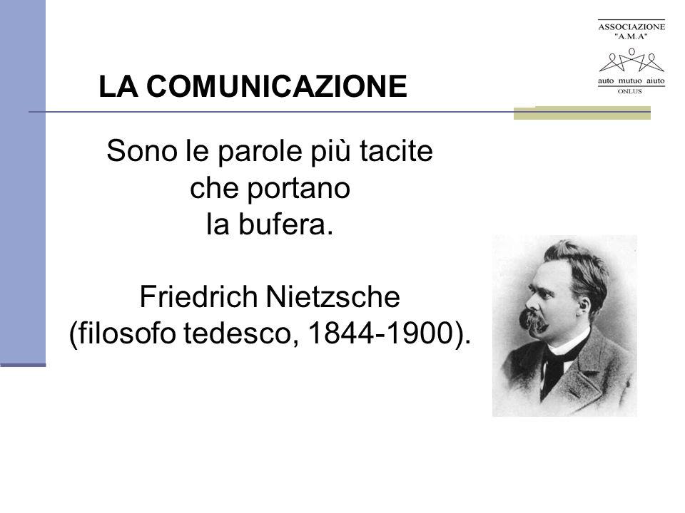 Sono le parole più tacite che portano la bufera. Friedrich Nietzsche