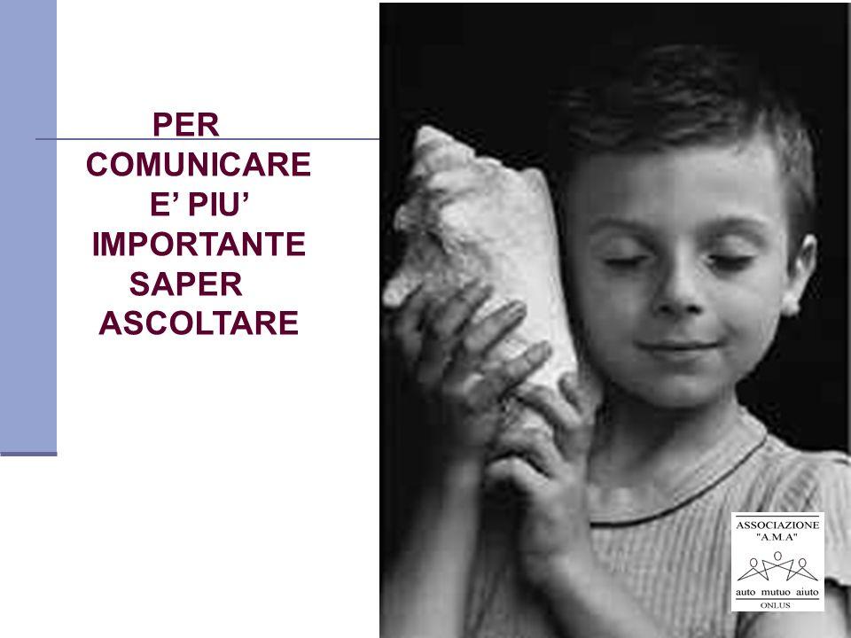 PER COMUNICARE E' PIU' IMPORTANTE