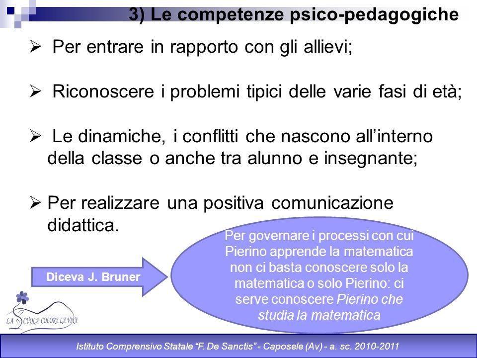 3) Le competenze psico-pedagogiche