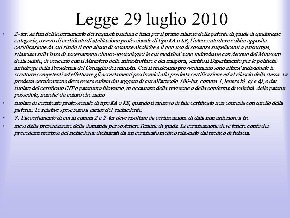 Legge 29 luglio 2010