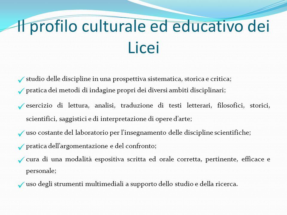 Il profilo culturale ed educativo dei Licei