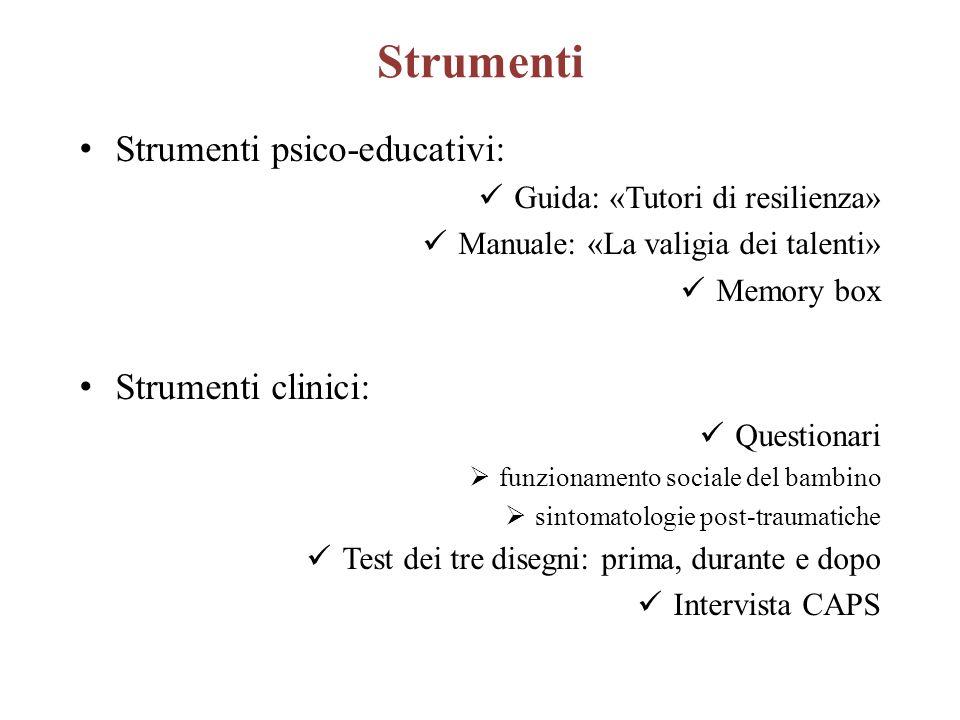 Strumenti Strumenti psico-educativi: Strumenti clinici: