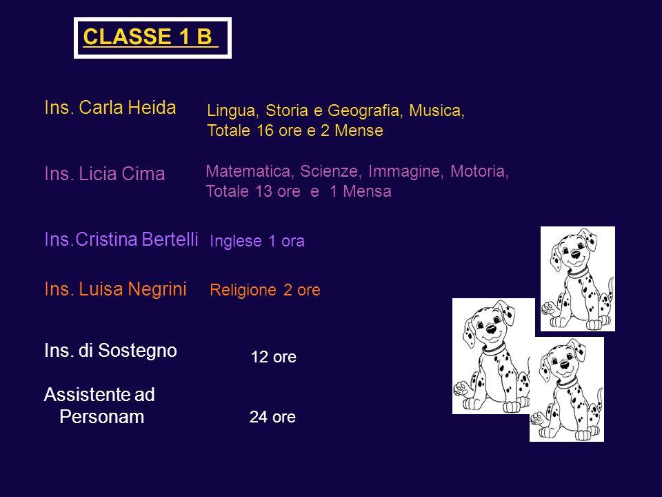 CLASSE 1 B Ins. Carla Heida Ins. Licia Cima Ins.Cristina Bertelli