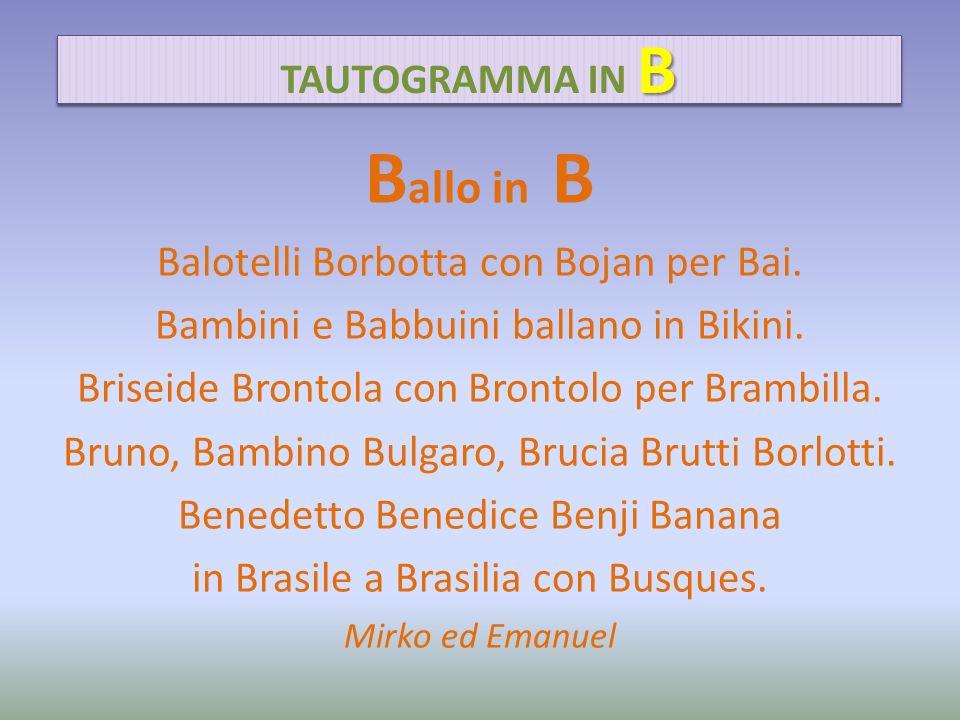 Ballo in B Balotelli Borbotta con Bojan per Bai.