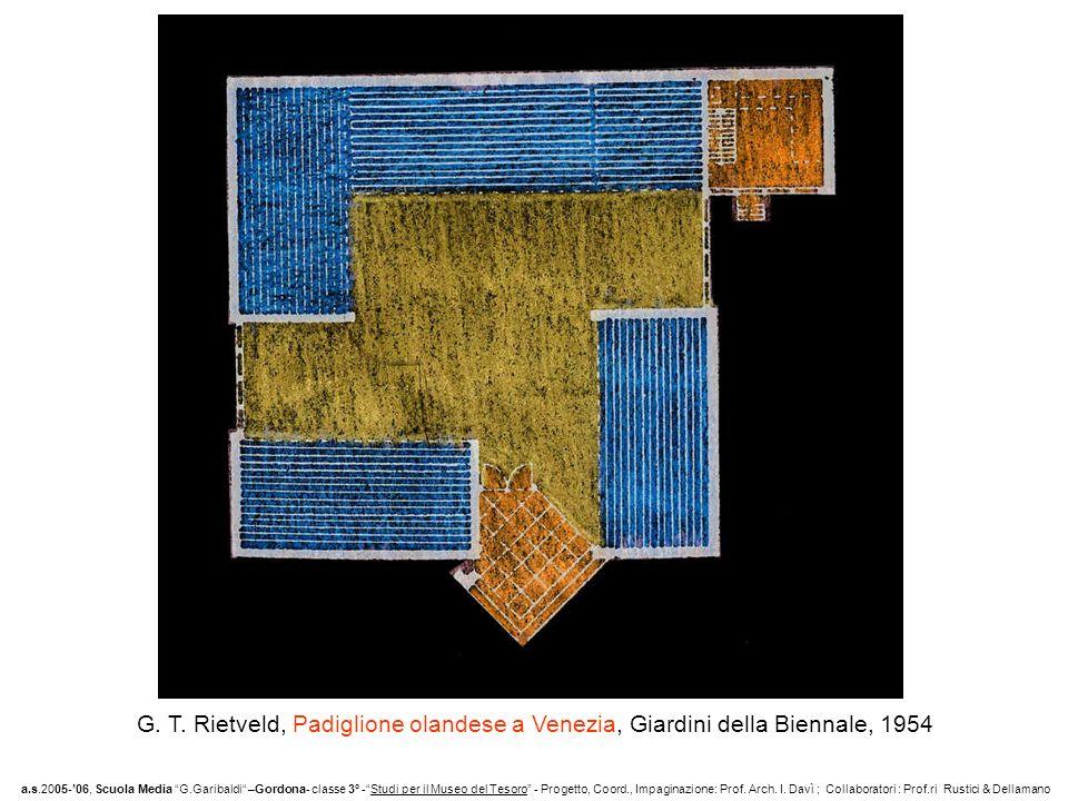 G. T. Rietveld, Padiglione olandese a Venezia, Giardini della Biennale, 1954