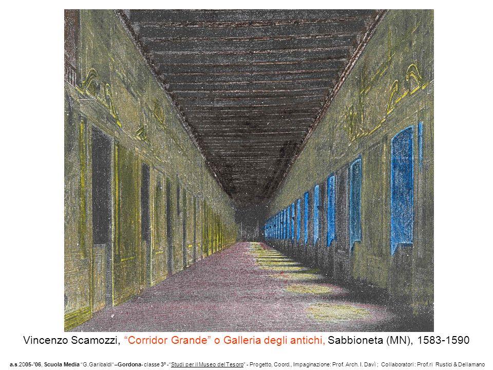 Vincenzo Scamozzi, Corridor Grande o Galleria degli antichi, Sabbioneta (MN), 1583-1590