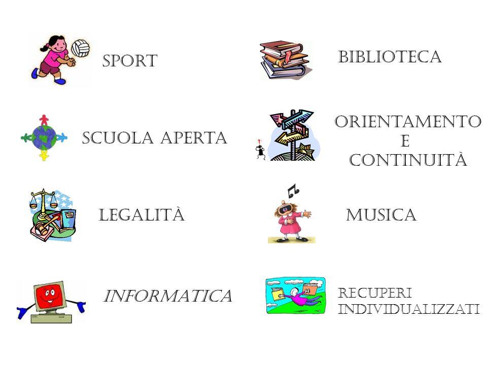 biblioteca sport Orientamento E continuità Scuola aperta legalità