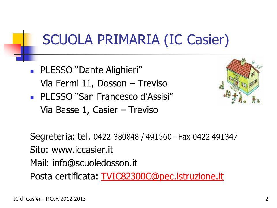 SCUOLA PRIMARIA (IC Casier)