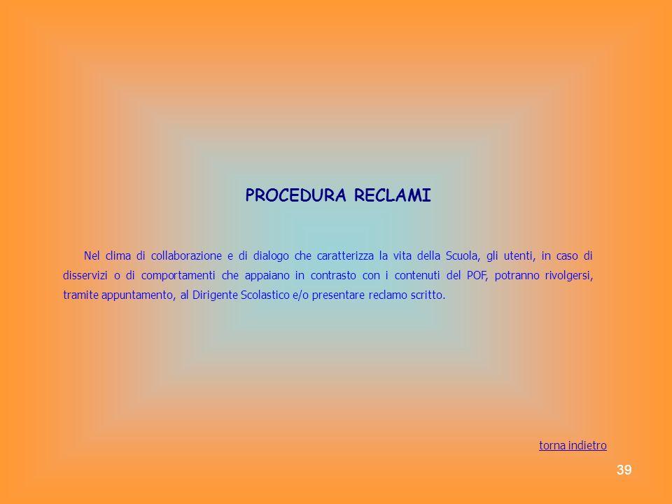 PROCEDURA RECLAMI