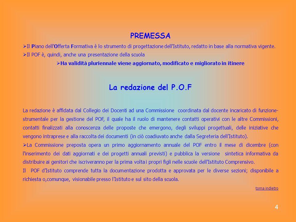 PREMESSA La redazione del P.O.F