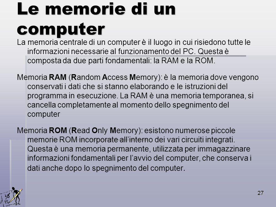 Le memorie di un computer