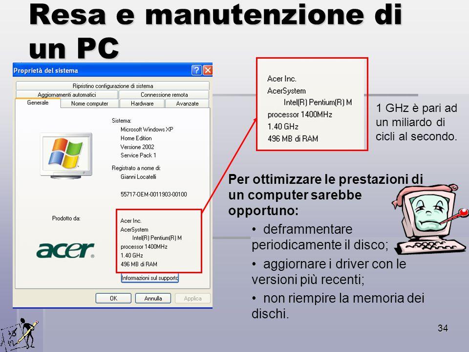 Resa e manutenzione di un PC