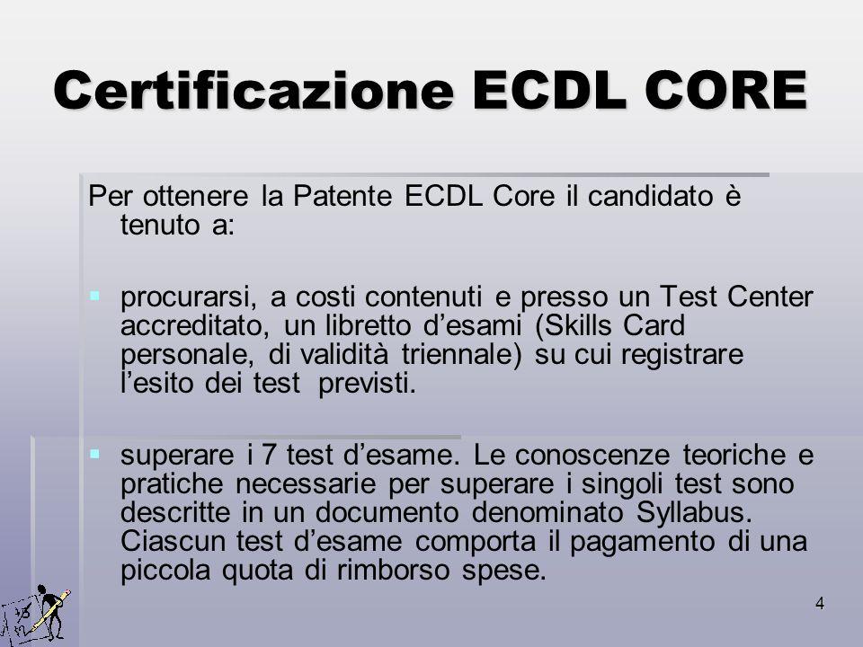 Certificazione ECDL CORE