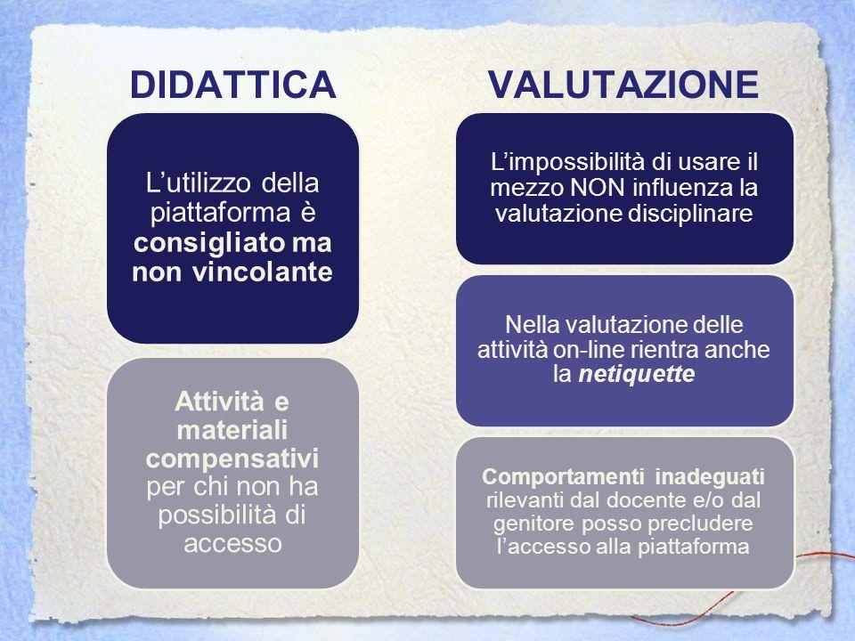DIDATTICA VALUTAZIONE