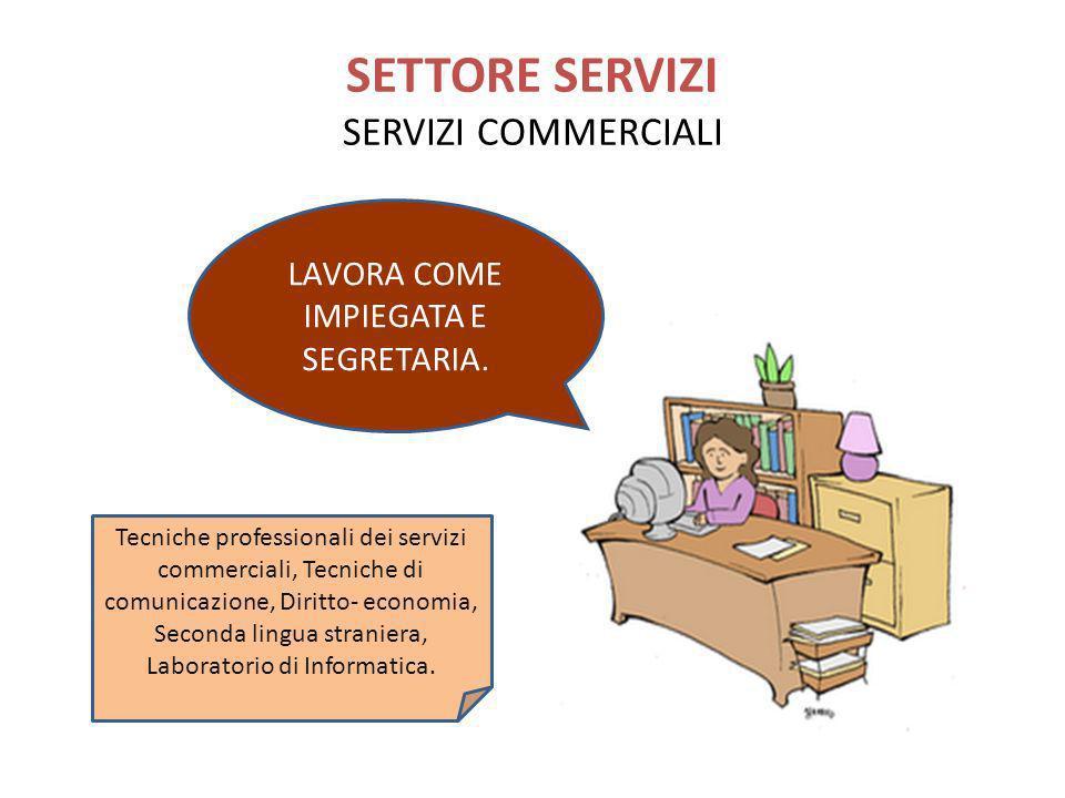 SETTORE SERVIZI SERVIZI COMMERCIALI