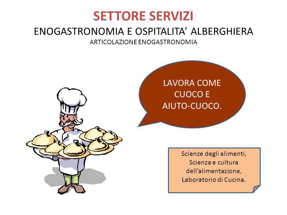 SETTORE SERVIZI ENOGASTRONOMIA E OSPITALITA' ALBERGHIERA ARTICOLAZIONE ENOGASTRONOMIA