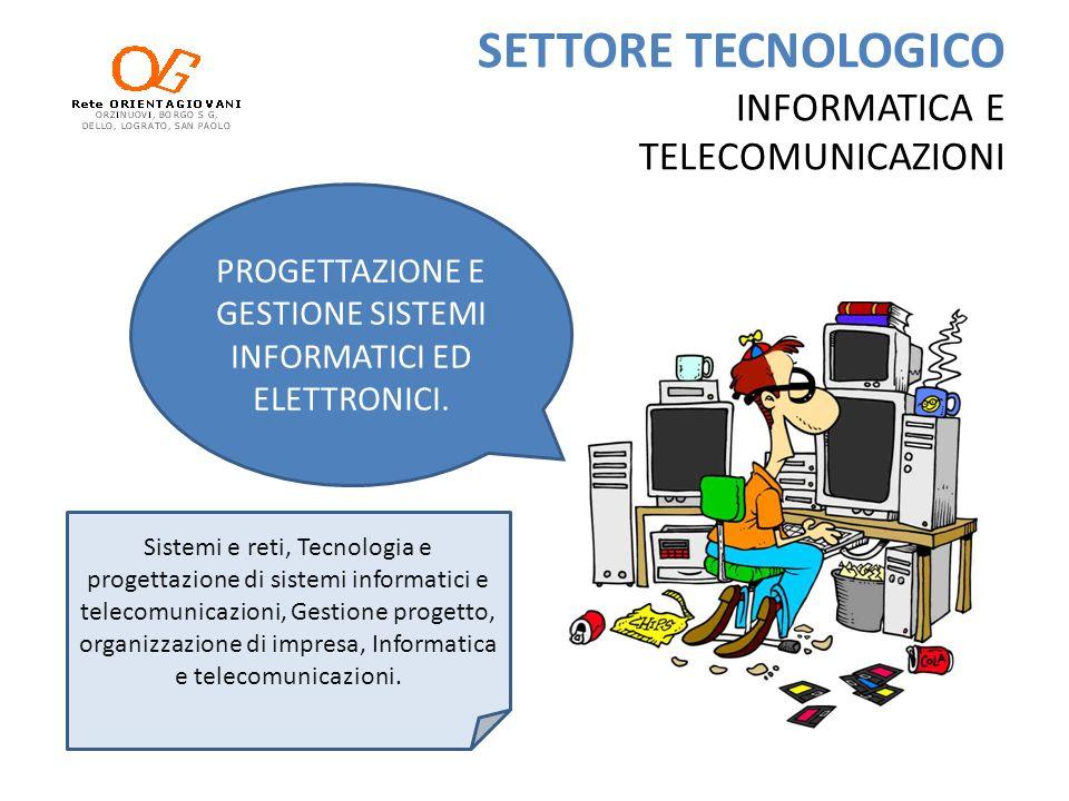 SETTORE TECNOLOGICO INFORMATICA E TELECOMUNICAZIONI