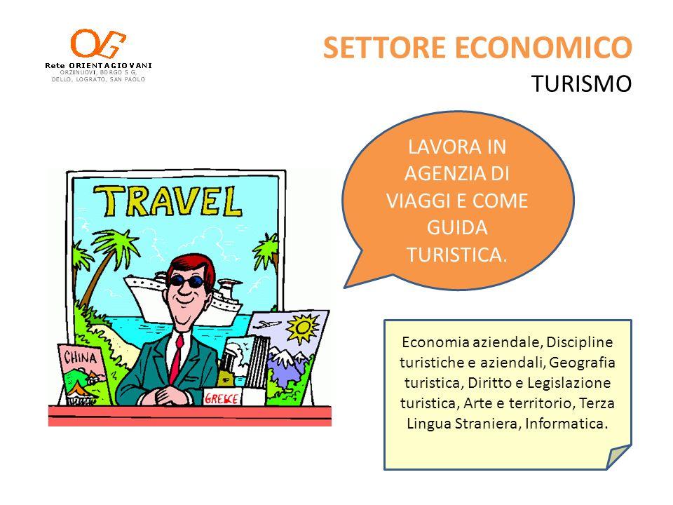 SETTORE ECONOMICO TURISMO