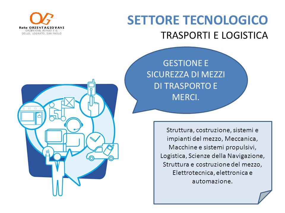 SETTORE TECNOLOGICO TRASPORTI E LOGISTICA