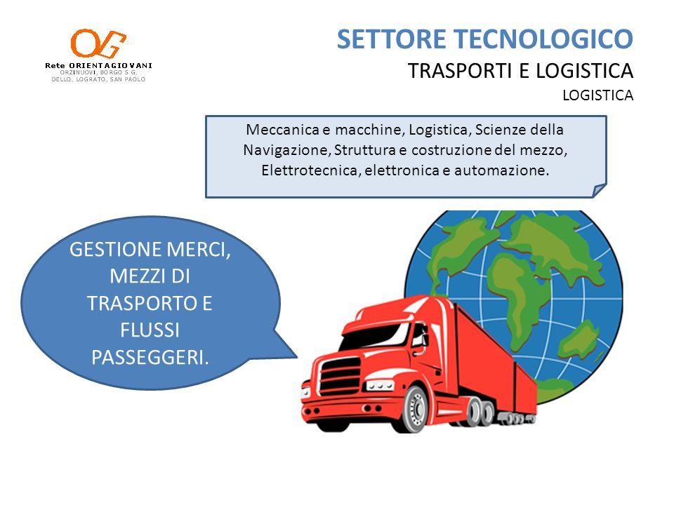 SETTORE TECNOLOGICO TRASPORTI E LOGISTICA LOGISTICA