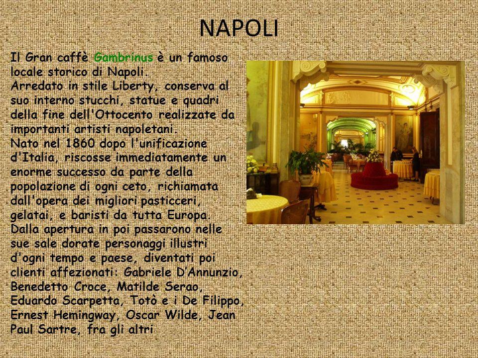 NAPOLI Il Gran caffè Gambrinus è un famoso locale storico di Napoli.