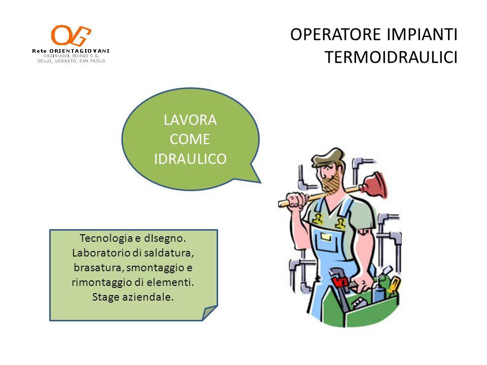 OPERATORE IMPIANTI TERMOIDRAULICI