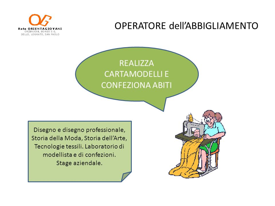 OPERATORE dell'ABBIGLIAMENTO