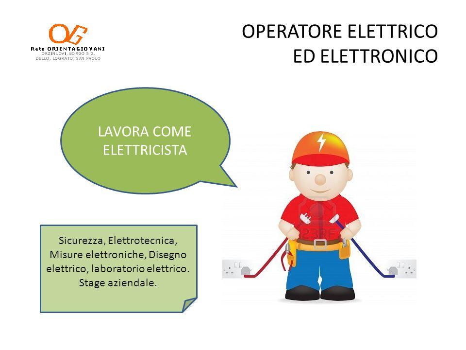 OPERATORE ELETTRICO ED ELETTRONICO