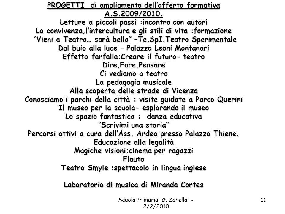 Scuola Primaria G. Zanella - 2/2/2010