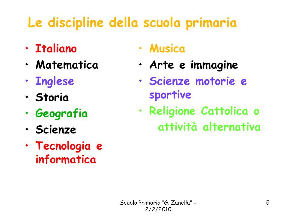 Le discipline della scuola primaria