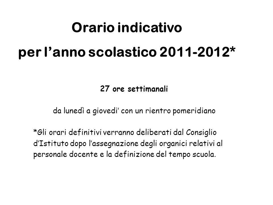 per l'anno scolastico 2011-2012*