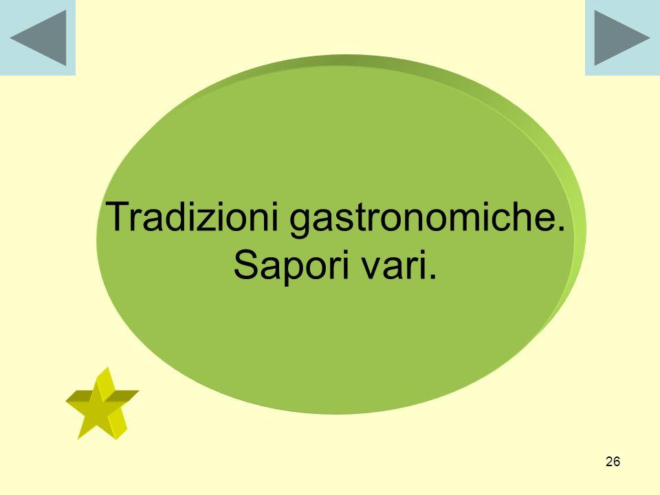 Tradizioni gastronomiche.