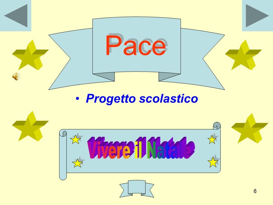 Pace Progetto scolastico Vivere il Natale
