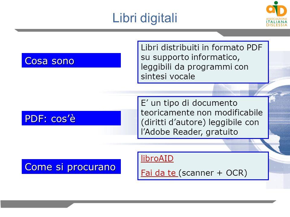 Libri digitali Cosa sono PDF: cos'è Come si procurano