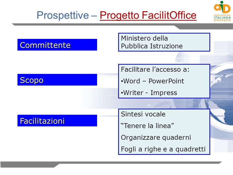 Prospettive – Progetto FacilitOffice
