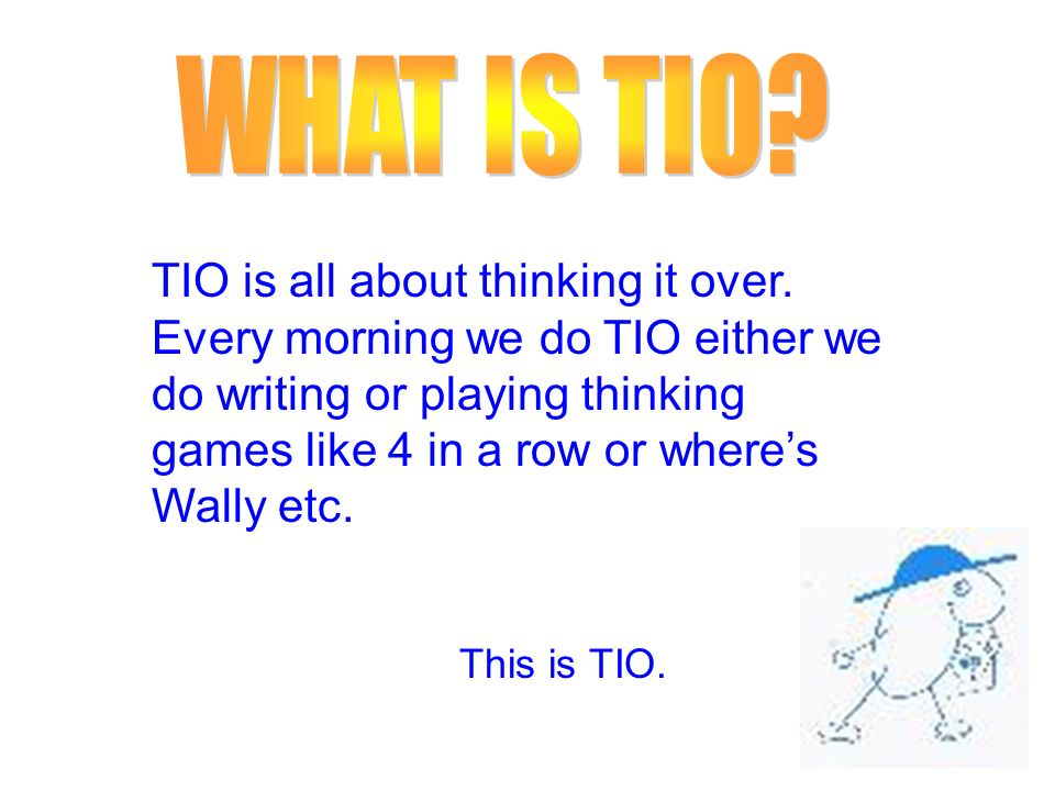 WHAT IS TIO